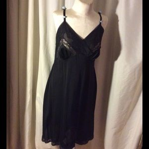 Beautiful black slip with inserts of lace